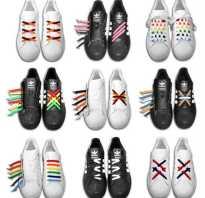 Варианты шнуровки туфлей. Виды шнуровок