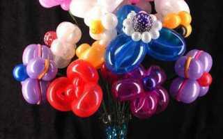 Цветы из шариков колбасок своими руками мастер. Букеты из воздушных шаров