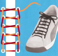 Способы как завязывать шнурки. Как красиво зашнуровать обувь