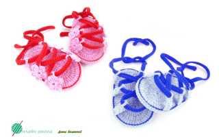 Вязание пинеток сандалики. Пинетки сандалики вязаные крючком с описанием