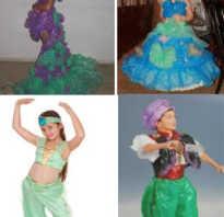 Костюмы из отходов для девочек. Детские карнавальные наряды