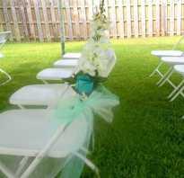 Как украсить стулья на свадьбу: оформление и декор