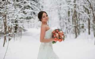 Зимний свадебный образ невесты. Что одеть на свадьбу зимой