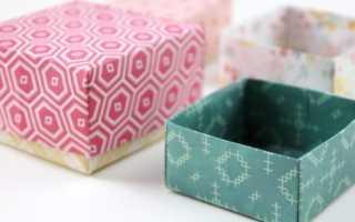 Прямоугольная коробка оригами. Оригами, подарочная коробочка