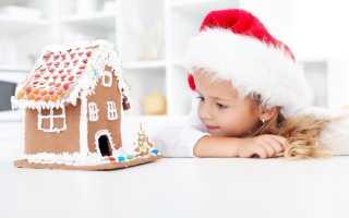 Новогодняя игрушка пряничный домик своими руками