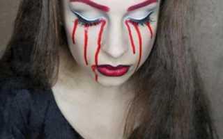 Как раскрасить лицо на хэллоуин. Макияж на хэллоуин