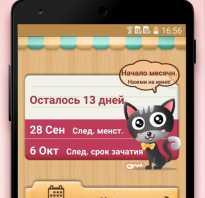 Женский календарь для смартфона. Приложение «женский календарь»