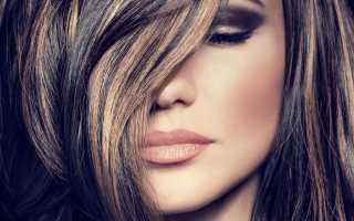 Покраска волос колорирование прически. Колорирование на тёмные волосы