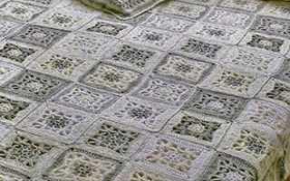 Схема вязанной накидки на диван. Вязаное покрывало на диван
