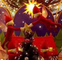 Оформление актового зала к новогодним праздникам.