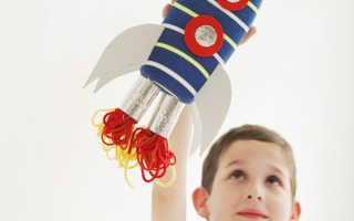 Сделать ракету из цветной бумаги своими руками. Ракета из картона