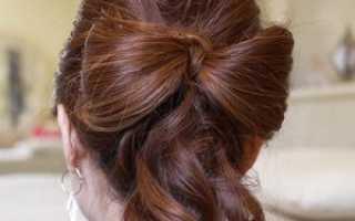 Как сделать бант из волос — пошаговая инструкция. Как сделать бантик из волос