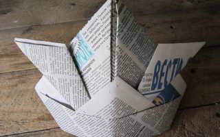 Поделки из бумаги: шапка. Как сделать шапку из газеты своими руками