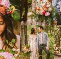 Свадьба в стиле бохо. Оформляем свадьбу в стиле бохо