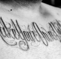 Смысловые надписи. Тату надписи и их значение