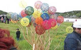 Как сделать красивые шары из ниток. Рождение чудесных шаров-паутинок
