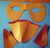 Маска шмеля на голову распечатать. Маски лисы и маска журавля