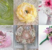 Цветы из полос органзы своими руками. Цветы из органзы