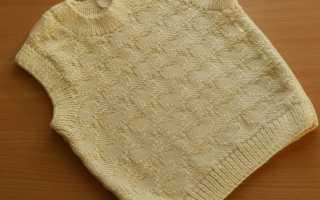 Вязание спицами для детей 2 5 жилетка. Вязанная безрукавка спицами для детей