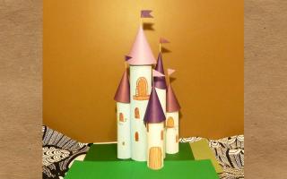 Сделать макет замка из бумаги. Как сделать замок из картона