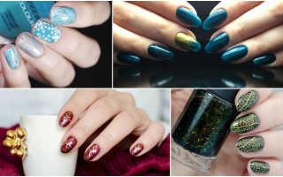 Скромный маникюр на новый год. Выбираем модный дизайн ногтей на новый год