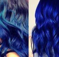 Синие волосы: как покрасить волосы в синий цвет дома