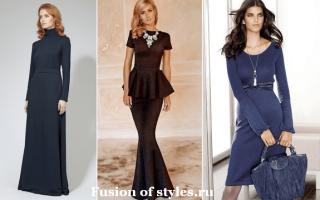 Трикотажное платье в женском гардеробе. Женские платья из трикотажа