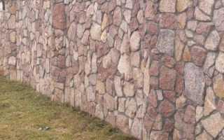 Забор из натурального камня своими руками. Забор из камня своими руками