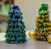 Ёлки из конфет. Как сделать елку из конфет и мишуры