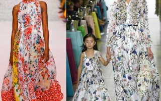 Фасоны платьев из хлопка в цветочек. Модные тенденции использования цветов