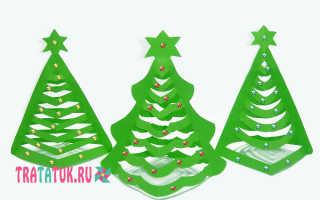 Вырезать объемную елку из бумаги шаблон. Новогодняя елка из бумаги