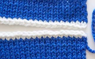 Как выполнить трикотажный шов. Как вшить вязаный рукав