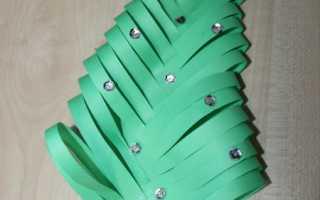 Елка из бумаги объемная своими руками. Как сделать елку из бумаги