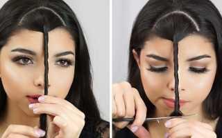 Как выстричь прямую челку. Как подстричь челку или сам себе парикмахер