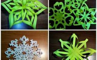 Снежинки из бумаги: схемы для вырезания. Как сделать снежинку из бумаги