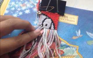 Узоры фенечек из мулине. Прямое плетение несколькими цветами