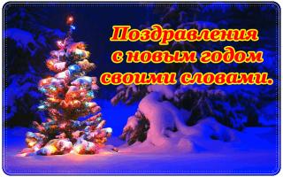 Необычные пожелания на новый год. Поздравления с новым годом своими словами