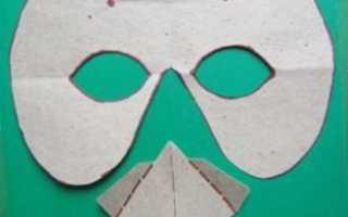 Маски животных из бумаги. Универсальная маска птицы (например, воробья)