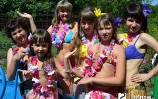 Гавайские леи и юбки своими руками. Гавайская вечеринка своими руками