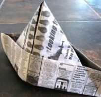Армейская пилотка из бумаги. Как сделать пилотку из газеты