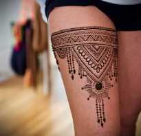 Как сделать татуировку хной