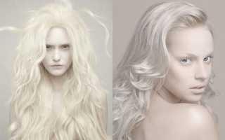 Как покрасить волосы в белый цвет. Какой белый оттенок волос выбрать